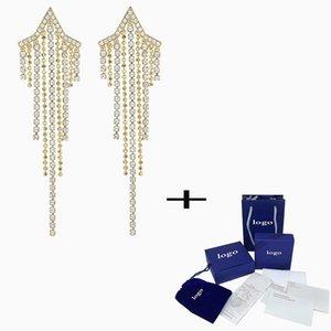 SWA 2021 NOUVEAU Boucles d'oreilles Tassell Cadrones et charmantes et charmantes et charmantes, bijoux à la mode pour donner à la femme un cadeau d'anniversaire de luxe