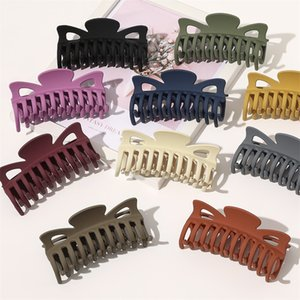 Vintage Claw Clip for Hair Colorful Solid Color 12cm Big Claw Clip Girls Hairclip Clip Hair Headwear Hair Accessories