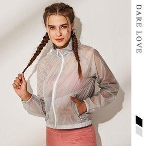 Traspirante Vololy Sweat Suit Top Sport Allenamento Abbigliamento Asciugatura rapida Giacca a maniche lunghe Antivento Antivante Giacca da yoga sottile