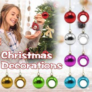 Novelty Items Christmas Balls Tree Decor Hanging Ornament Decorations For Home Xmas Navidad 2022 Gift Ball #50g