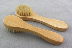 Face Cleansing Brush for Facial Exfoliation Natural Bristles cleaning Face Brushes for Dry Brushing Scrubbing with Wooden Handle AHC6327