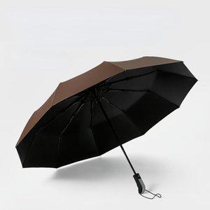 Umbrellas 105cm Big Top Quality Umbrella Men Rain Woman Windproof Large Paraguas Male Women Sun 3 Floding Outdoor Parapluie