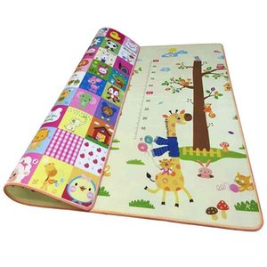 0.5cm Thick Double-Side Baby Crawling Play Mat 2*1.8 Meter Climb Pad Foam Carpets Kids Puzzle Game Developing 210924