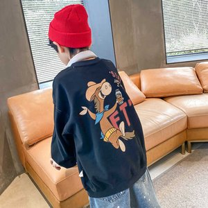 With Pocket Spring Autumn Boys Sweatshirts Jacket Coat KidsOutwear Teenager Tops Costume Children Clothes Cotton High Quality G0917