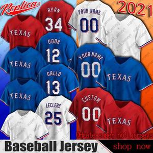 Texas 13 Joey Gallo Jersey 12 Rougged Odor Baseball Jerseys Kyle Gibson Nate Lowe Nick Solak Jersey Shin-soo Choo Leody Taveras David Dahl