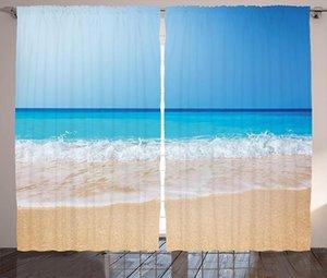 Curtain & Drapes Modern Curtains Serene Tropical Beach Paradise On Earth Traveling Ocean Heaven Trip Artwork Window For Living Room