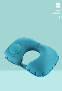 travel car lightweight TPU u shape pump inflatable neck pillow inflatable camping air pillows