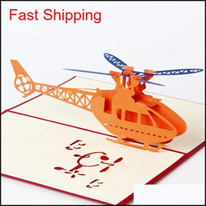New 3D Pop Up Greeting Cards Helicopter Happy Birthday Thank You Christmas Greeting Cards Shipping Hmtvi 3Dgyw