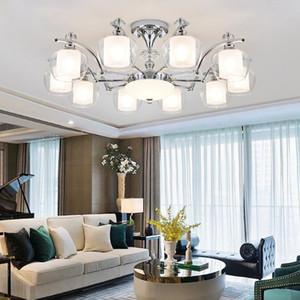 Modern Chrome Led Chandeliers Lighting Living Dining Room Decor Led Pendant Chandeliers Lamp Bedroom Hanging Light Luminaire