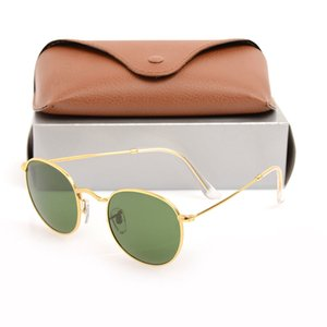 High Quality mens Sunglasses Round Metal hinge Fashion eyeglass UV Protection men Eyewears Luxury womens glasses Glass Lens women Eyewear with Original boxs 447