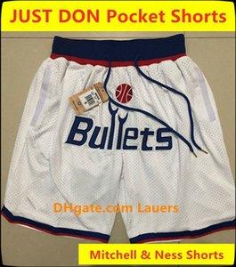 Vintage Mens NouveauWashingtonAssistants Just Don Pocket Shorts Beal Wall Howard Howard Big Face cousu Basketball respirant Sourtes classiques