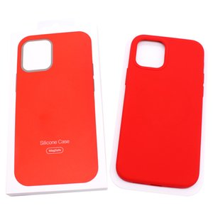 Mag Safe Silicone Case with for iPhone 12 Strong Magnetic Soft Back Case with Official Retail Box for 12 Mini 12 Pro Max