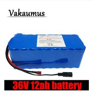 Pack de batterie neuf / 36V Vakaumus EBIKE 18650 42V 12000MAh avec 15 A BMS T Plug haute capacité 12AH 10S 4 P pour moteur de 250W 350W 500W