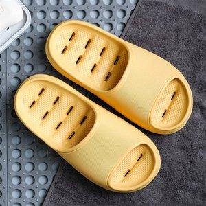 Duoyi New Shoes Mujeres antideslizante Grueso Grueso Verano Hogar Casa Tiroces de baño Parejas Indoor Female Slipper Cómodo 210310