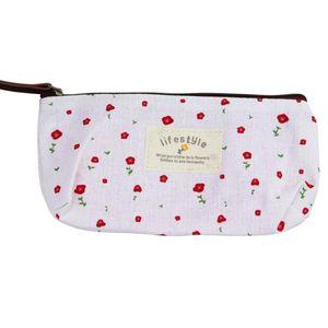 Pencil Bags Women Fashion Makeup Storage Bag Rural Style Floral Pen Case Cosmetic Good Quality Travel Zipper