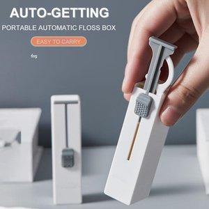 Disposable Dinnerware Portable Automatic Toothpicks Holder Dental Floss Flosser Picks Teeth Stick Tooth Cleaning Interdental