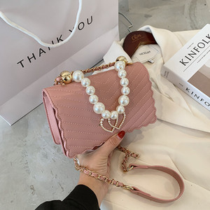 Small C Qixi limited Valentine's Day Women's bag love Pearl Pink 2021 New Single Shoulder Messenger chain K trend