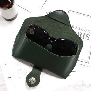 Leather glasses storage box with sunglasses and bag