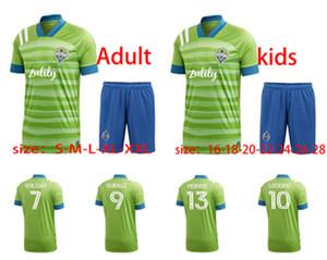 2021 Uomo Football Seattle Voice Sportswear 20 21 Adulto Green Taity # 7 Rhodan # 9 Ruidizia # 13 Morris Camicia da calcio