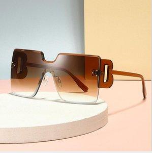 Patlayıcı Avrupa ve Amerikan Moda Tek Parça Kutusu Güneş Gözlüğü Üreticileri HD PC Güneş Gözlüğü Ince Mektup Ayakları