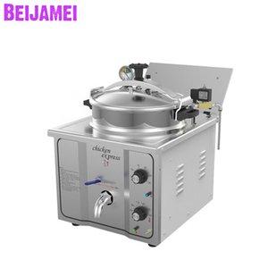 Beijamei 16L Fryer profundo Comercial Presión eléctrica Presión Fryer Machine Pato Peces Carne Vegetales Fichas Freidora