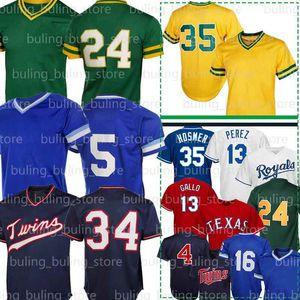 24 35 Rickey Henderson Jersey 5 George Brett Bet Jackson 13 Salvador Pérez 22 Miguel Sano Joey Gallo Nolan Ryan Reggie Jackson Baseball