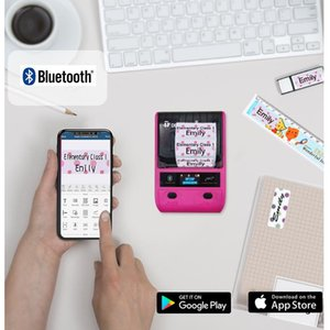 Printers DETONGER DP23P Color Sticker Maker Bluetooth Android Name Tag Cartoon Label Printer Machine Hand Account Small Pape