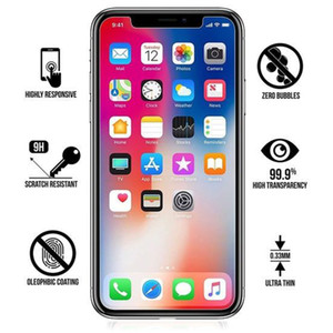 Screen Protector for iPhone 11 Pro XS Max Tempered Glass for iPhone 7 8 Plus 12pro 12mini Protector Film 0.3mm