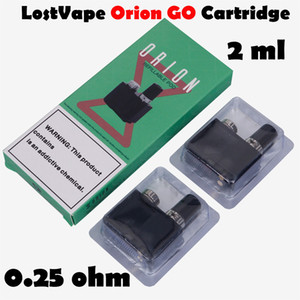 Atomizzatore autentico Atomizzatore Lost Vape Orion DNA Go Pod Q Cartridge 2ml Pod Ricaricabile Ricaricabile per il kit originale Starter Lostvape 100% genuino
