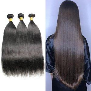 Brazilian Straight Virgin Human Hair Bundles Raw Unprocessed Indian Body Deep Water Wave Extensions Kinky Curly Wefts Bulk Order