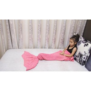 10colors 90*50cm Mermaid Tail Blankets Mermaid Tail Sleeping Bags Cocoon Mattress Knit Sofa Blanket Handmade Living R jllTgg xmhyard