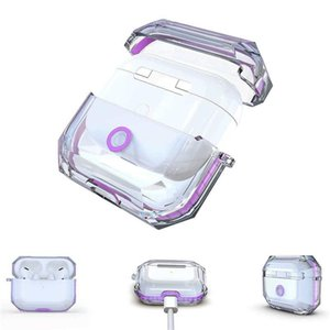 Transparent TPU Case for apple Air Pods Pro All Prevention for Airpod Protector with Retail Package Free DHL