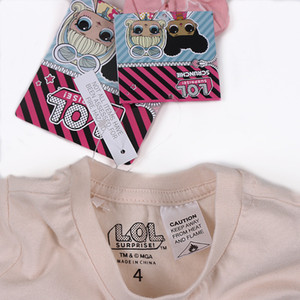hot cartoon girl doll baby T-shirt Summer short good quality short kid short sleeve with hang tag zx0032