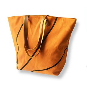 Foldable Shopping Bag Printed Portable Handbags Baseball Tote Softball Basketball Football Volleyball Canvas Bags 8 Style DWA4039