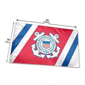 5 'US-Küstenwache-Veteran-Flaggen 3' x Fuß 100d Polyester Hohe Qualität mit Messing-Tüllen Pqzn