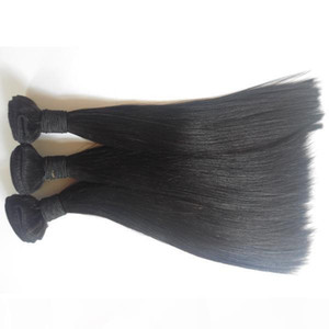 Unprocessed brazilian malaysian peruvian straight hair extension virgin human hair weave weft 8-30inch Natural Color Indian remy hair DHgate