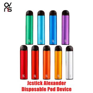 100% Authentic jcstick alexander disposable pod device 350mah battery 500puff 2.5ml Pod Vape Pen Authentic VS Bar Plus R&M DHL free