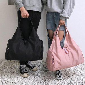 Free shipping with LOGO Outdoor Waterproof Nylon Sports Gym crossbody Bag Women Training Fitness Travel Handbag Yoga Sports Bag Shoe