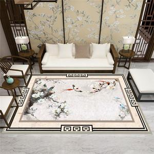 Northern Europe Grand tapis entièrement moquette Chambre à la poussière Chambre à la poussière Sofa Table à café Tapis de plancher Tapis de peinture chinoise