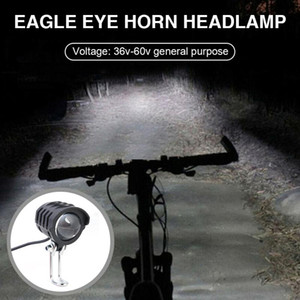 Electric Bike LED Front Light E-Bike Bicycle 2 in 1 Waterproof Horn Headlight Biking Portable Dustproof Cycling Parts