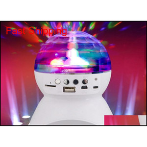 Wireless Bluetooth Speaker With Built-In Light Show Party  Disco Dj Stage & Studio Effects Lighting Rgb Color Changing Led Crystal Njl 6Nmie