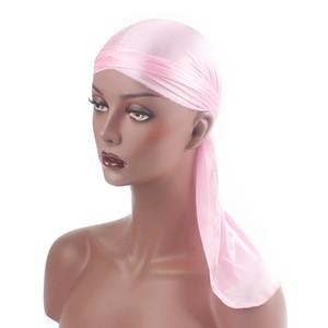 2021 Silky Durags Bandanas Turban hat Wigs Doo Men Satin Durag Biker Headwear Headband Hair Accessories