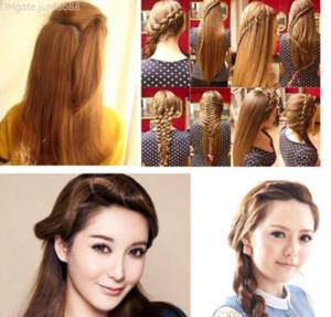 Capelli Braider Trelista Stilista Sponga Donna Accessori Acciai Capelli Twist Styling Hair Trecciatura Strumenti per lo styling GRATIS DHL