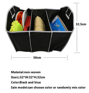 Foldable Car Storage Boxs Bins Trunk Organizer Toys Food Stuff Storage Container Bags Auto Interior Accessories Case Can FBA Ship GWD5066
