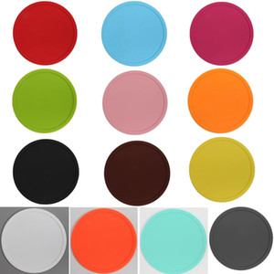 13Colors Silicone Coasters Non-Slip Cup Coasters Heat Resistant Cup Mate, Soft Coaster For Tabletop Protection Fits Size Drinking Glasses