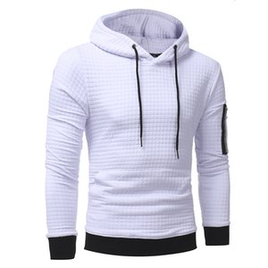 Newest Men's Long Sleeved Hoodies Fitness Workout Jersey Warm Hooded Sweatshirts Fashion Jacquard Pullover Teenager Coat Military Outerwear