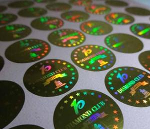 2021 NEW laser sticker silver golden hologram sticker