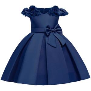 Girls Dresses Flower Formal Dresses Kids Dress Wedding Party Dress Princess Pageant Dresses Children Clothing B3902