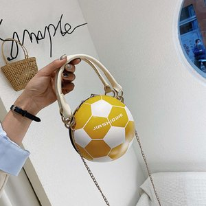 HBP fashion The same funny little round women's 2021 new football slung pink chain bag
