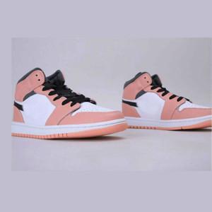 Женщины 1 1S MID розовый кварцевый баскетбол для девочек спортивные обувные тренеры женские кроссовки